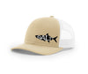 Image of Tarpon Outline Salty Cracker Snapback Hat