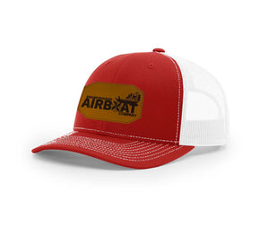 Swamp Cracker Airboat Co Leather Patch Snapback Hat