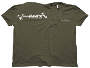 Landing Ducks Swamp Cracker Logo Outdoorsman Shirt