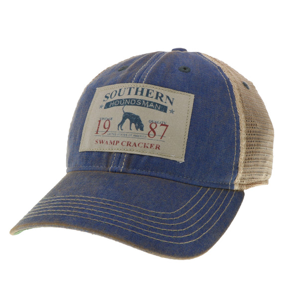 Southern Houndsman Navy Trucker Mesh Fitted Hat
