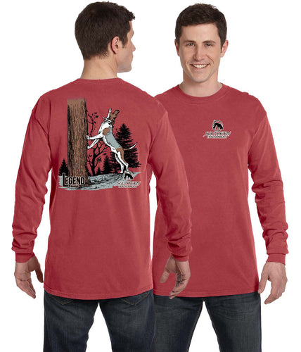 Crimson Long Sleeve Treeing Hound Southern Houndsman Shirt
