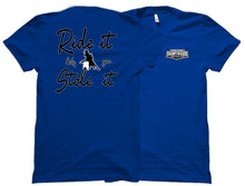 Ride It Like You Stole It Barrel Racing Swamp Cracker Cattle Company Shirt