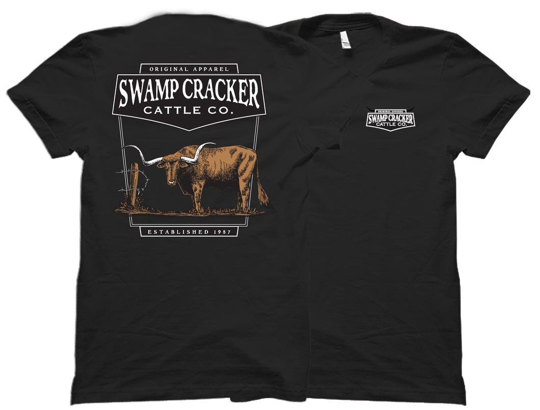 Texas Longhorn Swamp Cracker Cattle Company Shirt