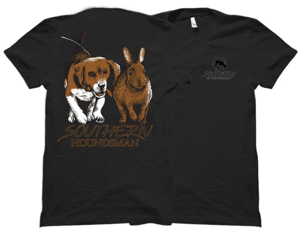Youth Beagle Chasing Rabbit Southern Houndsman T-Shirt