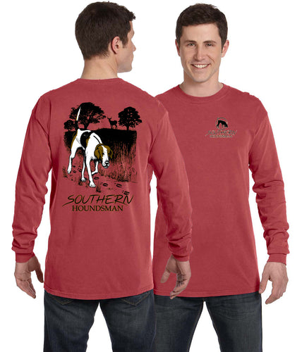 Crimson Long Sleeve Trailing Buck Walker Southern Houndsman Shirt
