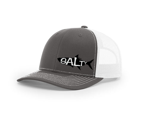 Tarpon Outline Salty Cracker Snapback Hat