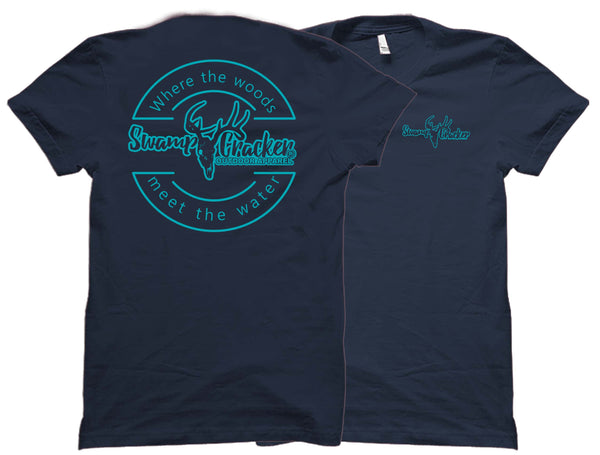 Swamp Cracker Turquoise Logo Shirt