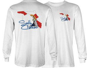 Salty Cracker Florida Redfish Long Sleeve Sublimated T-Shirt