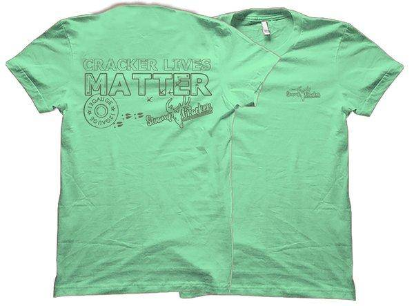 Cracker Lives Matter Green Ink Swamp Cracker Shirt