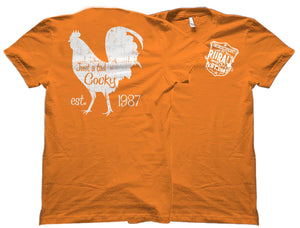 A Tad Cocky Rural Rooster Outdoorsman Shirt