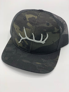 Swamp Cracker Limited Edition 3D Elk Shed Dark Camo SnapBack hat