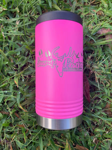 Pink Swamp Cracker Insulated Slim Can Cooler