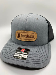 Swamp Cracker Duck hunting lab leather patch SnapBack hat