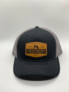 Southern Houndsman Leather Patch Snapback Hat