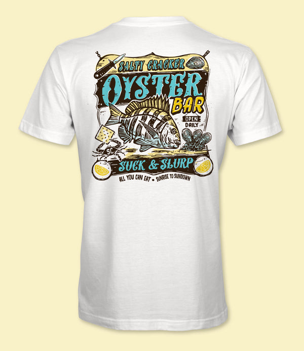 Oyster Bar Dry Fit Salty Cracker Shirt