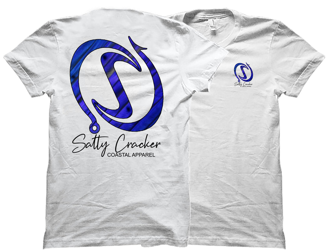 Salty Cracker Logo Silhouette Sailfish Short Sleeve Sublimated T-Shirt
