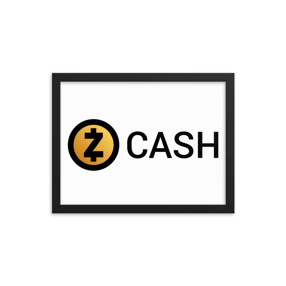 Zcash Framed Poster
