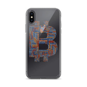 Bitcoin Word Cloud iPhone Case