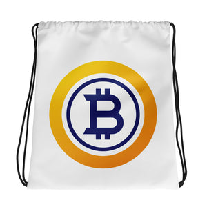 Bitcoin Gold Drawstring Bag