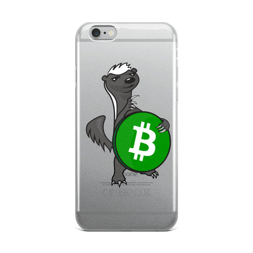 Bitcoin Cash - Honey Badger iPhone Case