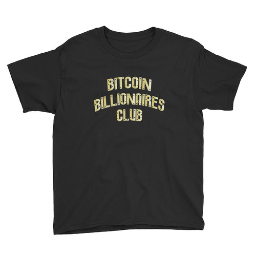 Bitcoin Billionaires Club Gold Youth Shirt