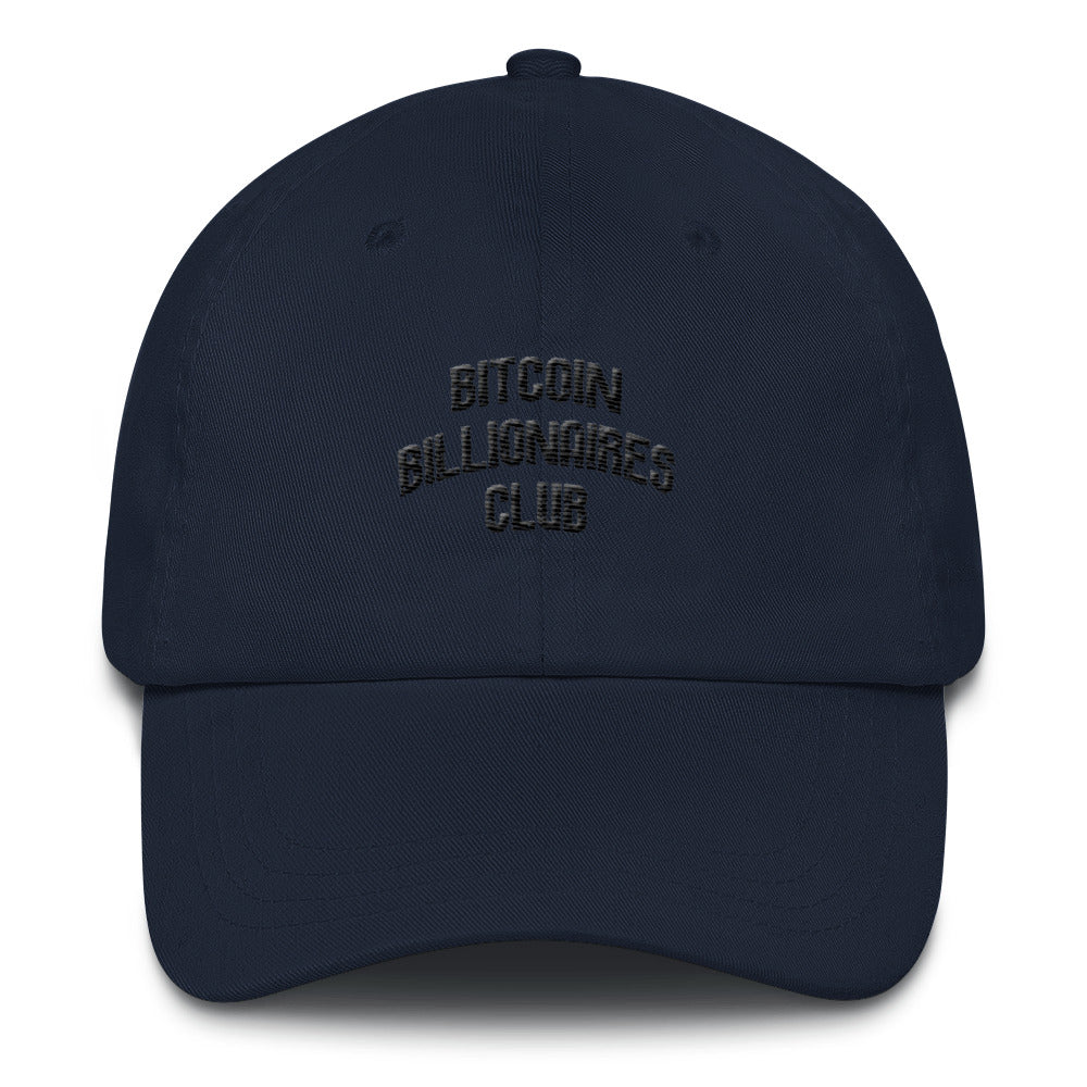 Bitcoin Billionaires Club - Black Font Hat