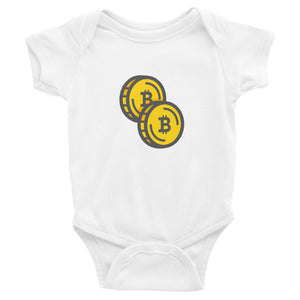 Bitcoin Double Coin Baby Bodysuit