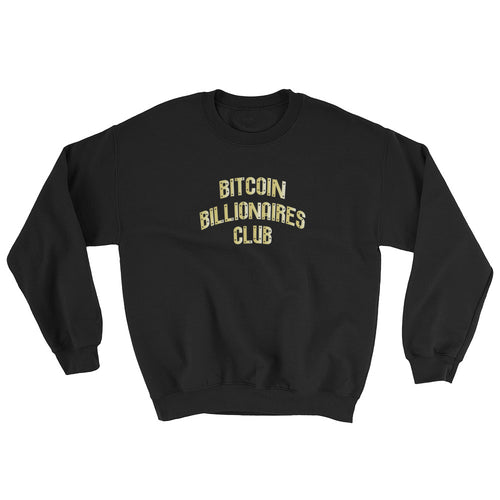 Bitcoin Billionaires Club Gold Sweatshirt