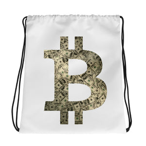 Bitcoin FIAT Logo Drawstring Bag