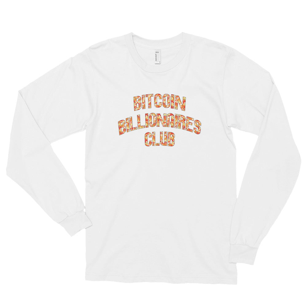 Bitcoin Billionaires Club Fire Long Sleeve