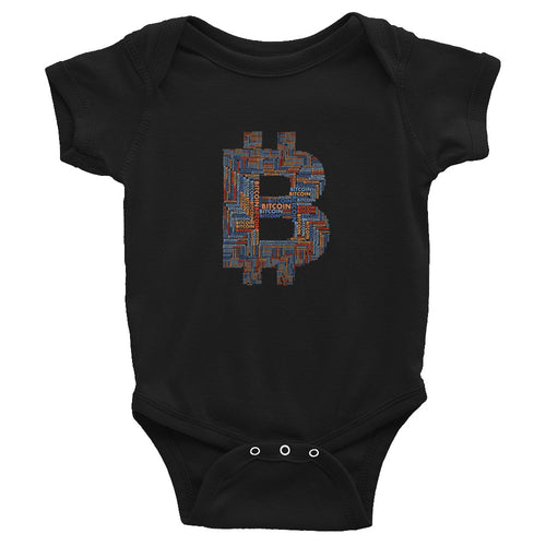 Bitcoin Word Cloud Baby Bodysuit