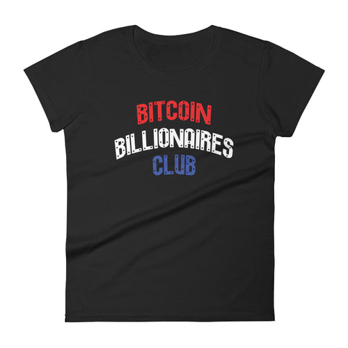 Bitcoin Billionaires Club - Red, White, and Blue Women's Shirt