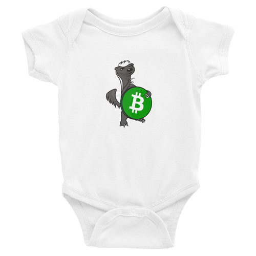 Bitcoin Cash Honey Badger Baby Bodysuit