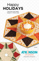 Happy Holidays Tree Skirt & Table Topper Pattern