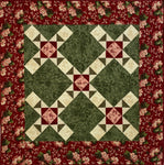 Burgundy & Green Wall Quilt