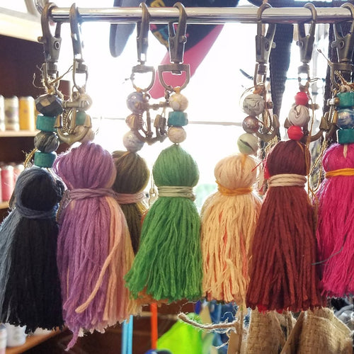 Tassel Keychain, available in a variety of colors