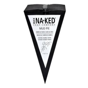 Buck Naked Soap Company - Bamboo Activated Charcoal Clay Mud Pie - 75g/2.75oz