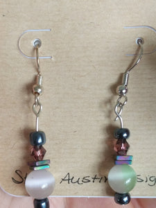 Iridescent globe mini dangle earrings