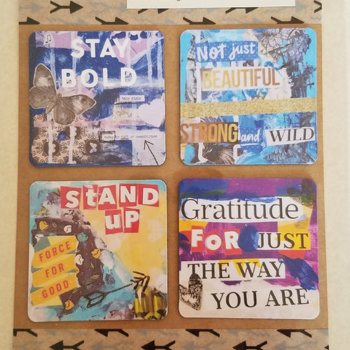 Stay Bold set of 4 magnets