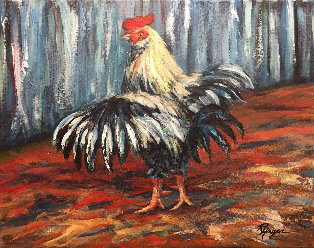 Struttin - framed rooster print, limited edition