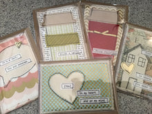 Fabric postcards, handmade, Birthday, Christmas, Thinking of You, and more