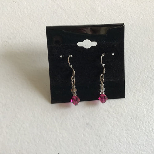 Pink mini dangle earrings