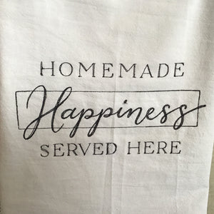 Simple Sayings embroidered tea towels