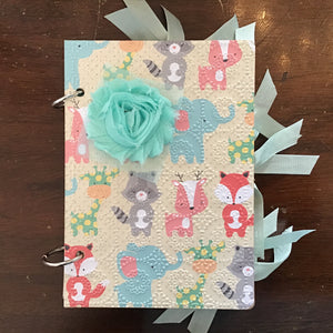 Handmade baby book, baby journal for boy or girl