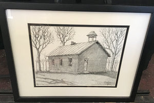 "Framed Limited Edition Print ""Rte 162 Schoolhouse"" rural Ohio"
