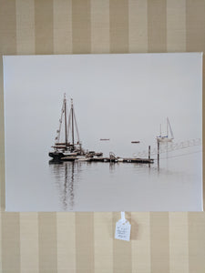 "Boats on the harbor, 16""x20"" canvas print"