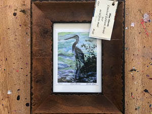 Blue Heron original limited edition print-SOLD OUT