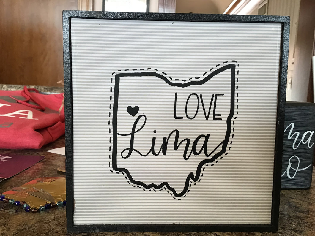 Love Lima Ohio sign