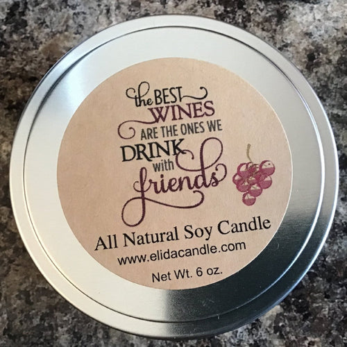 Wine collection candle