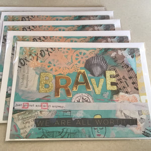 Brave, note card 5x7""